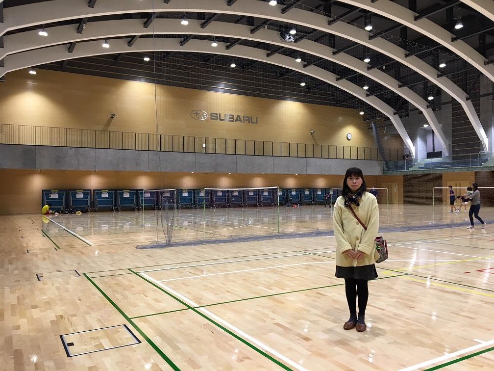 防災公園の地下に整備されたスポーツセンターのアリーナ