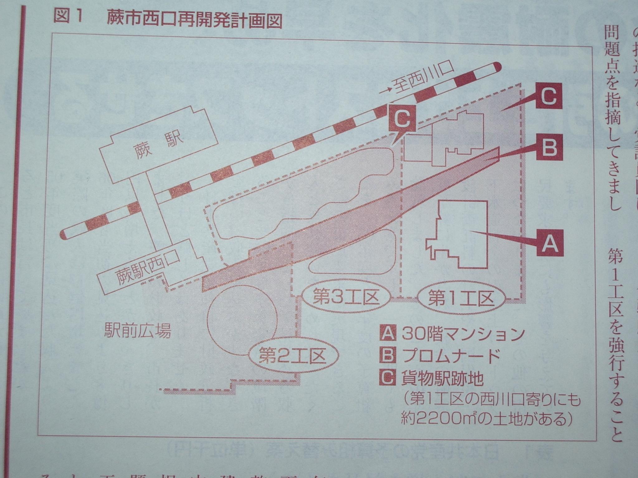 蕨駅西口再開発計画図